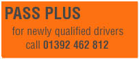 Pass Plus Driving Courses in Devon and Exeter run by ADTT Driving School
